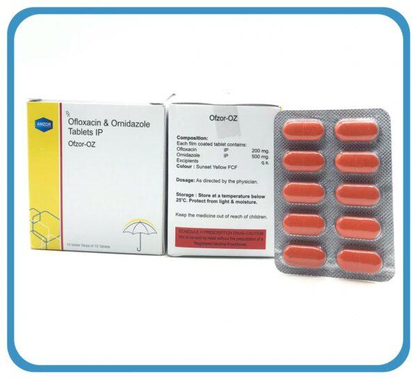 OFLOXACIN 200 MG+ ORNIDAZOLE 500 MG