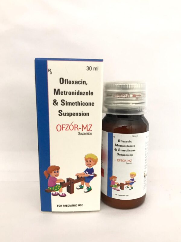 OFLOXACIN 50 MG+ METRONIDAZOLE 120 MG+ SIMETHICONE 10 MG