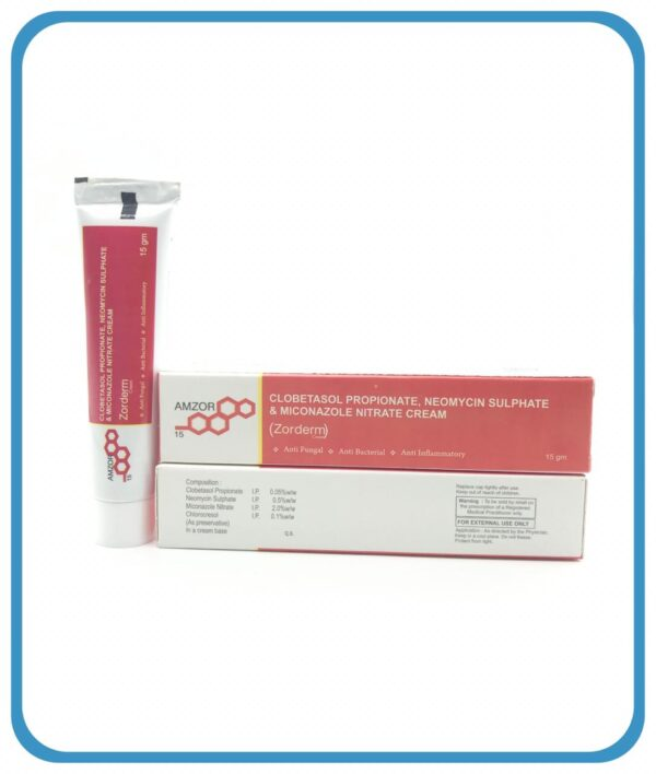 """""""CLOBETASOLE PROPIONATE 0.05% W/W + MICONAZOLE NITRATE 2% W/W + NEOMYCIN SULPHATE 0.5% W/W CHLOROCRESOL (in cream base 20X15)"""""""
